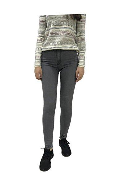 Loft Kadın Gri Skinny Fit Jean