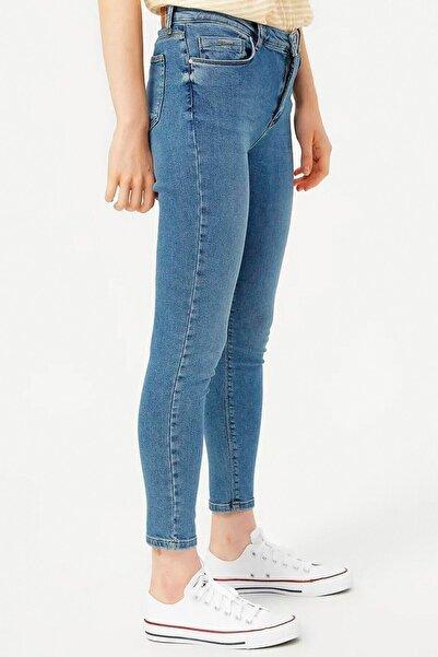 Loft Kadın Mavi Renkli Kot Pantolon