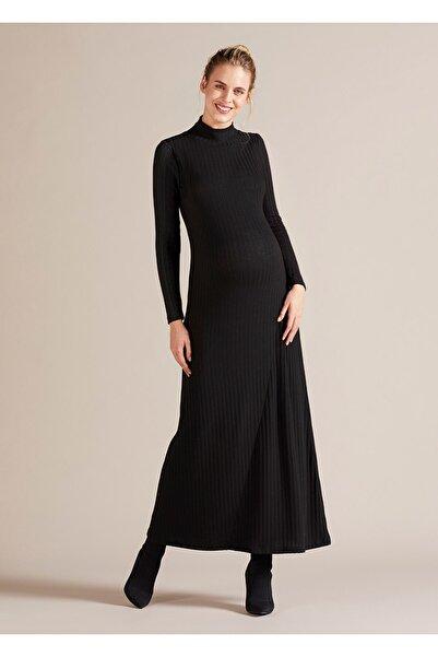 GEBE Boğazlı Uzun Hamile Elbisesi Savannah