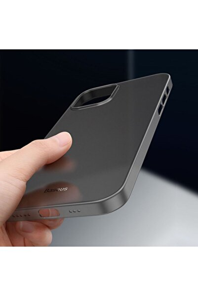 Baseus Wing Case Iphone 12 Pro Max 6.7 Kılıf Ultra Ince Lux Mat Şeffaf Kılıf