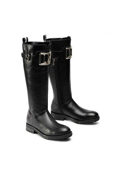 Love Moschino Kadın Siyah Tokalı Çizme