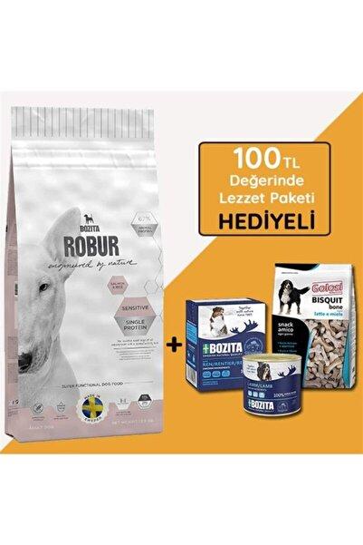 Bozita Robur Sensitive Single Protein Somonlu Yetişkin Köpek Maması 12,5 Kg (hediyeli)