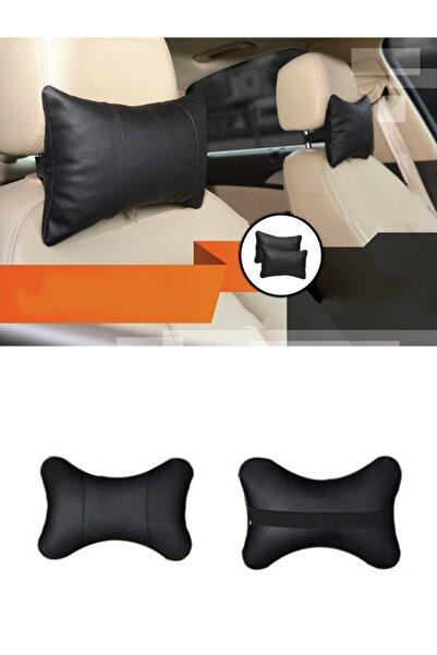 Weigo Ortopedik Deri Araç Boyun Yastığı 2 Adet (Siyah)
