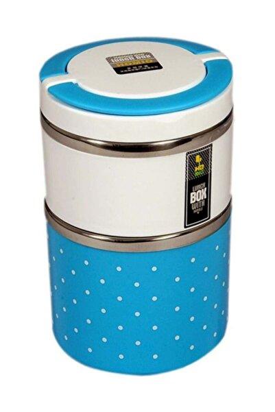 """Okyanus Lunch Box 2""""li Mavi Sefer Tası - Mavi"""