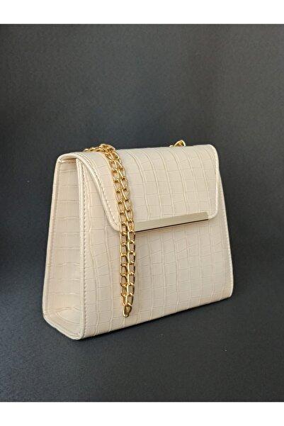 dizaynbag Krem Rengi Askılı Çanta