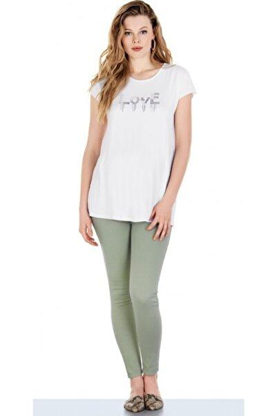 Ebru Kadın Yeşil Hamile Pantolonu