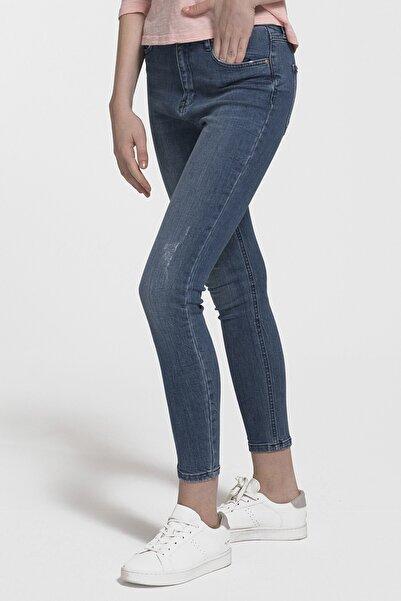 Loft Kadın Mavi Skinny Jean Fit Pantolon