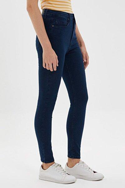 Loft Kadın Lacivert Skinny Fit Kot Pantolon