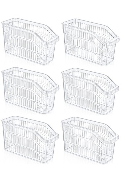 Sas Buzdolabı Sepeti Dolap Içi Düzenleyici Sepet Organizer Şeffaf 6 Adet 30x17x16