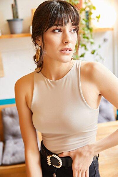 Olalook Kadın Taş Göğüs Ek Parçalı Altı Çıtçıtlı Bodysuit BDY-00000001