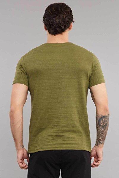 Yeşil Pamuklu Erkek T-Shirt ES-3875