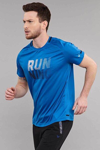Mavi Erkek Antrenman T-Shirt ES-3804