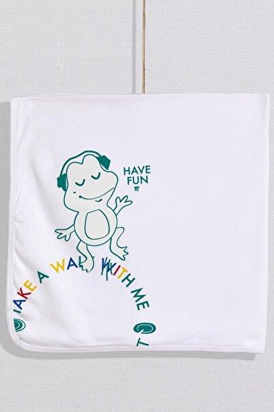 Wogi Bebek Kurbağacık Temalı Battaniye WG20S-5478-B