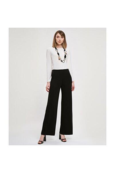 Aker Geniş Siyah Pantolon V35590129