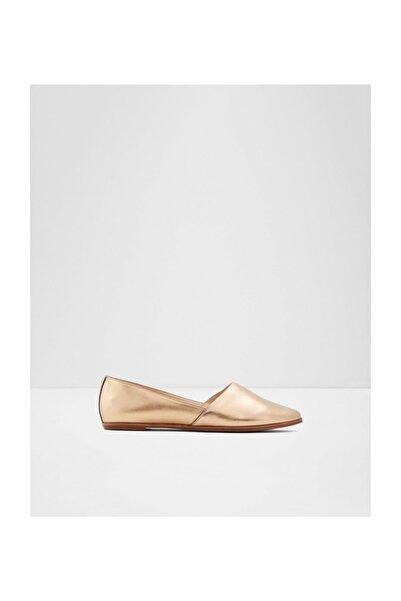 Aldo Kadın Altın Deri Düz Ayakkabı