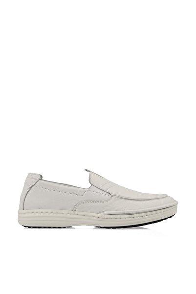 Uniquer Erkek Hakiki Deri Ayakkabı 101117U 202131 Beyaz