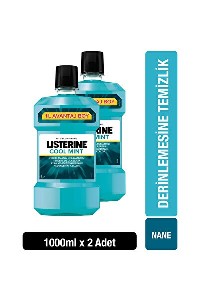 Listerine Cool Mint Ağız Suyu 1000 ml x 2 Adet