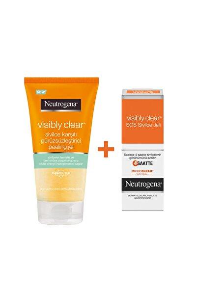 Neutrogena Visibly Clear Sivilce Karşıtı Peeling 150 ml + Hızlı Etkili Sivilce Jeli 15 ml