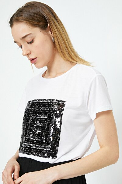 Kadın Ekru T-Shirt 0YAK13507GK