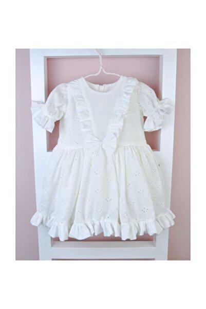 Le Mabelle Beyaz Fisto Kız Çocuk Elbise - Vicky