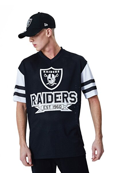 NEW ERA Nfl Oakland Raiders Contrast Sleeve Oversized T-shirt 12195345