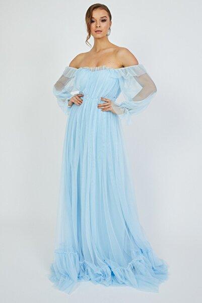 Hayal Tül Mavi Elbise