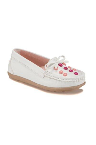 Pinkstep A3336136 Beyaz Renk Kız Çocuk Babet Ayakkabı