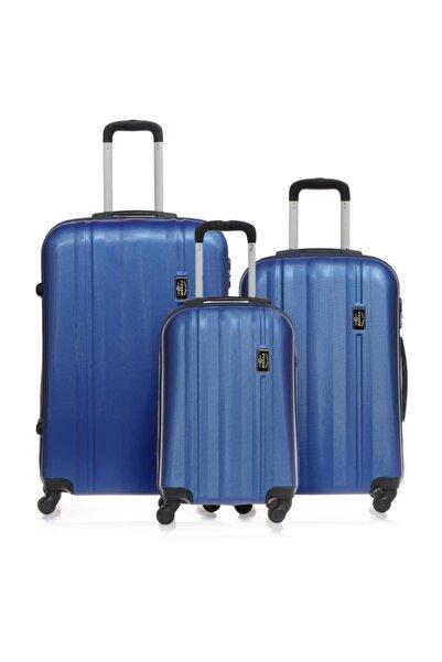 Mavi Unisex 3'lü Valiz Seti 9990027017802