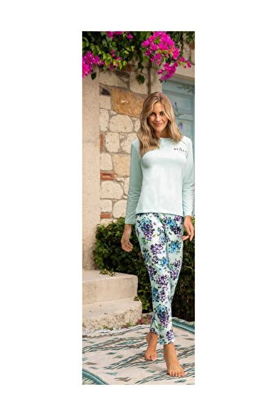 Berrak Kadın Mint Yeşili Pijama Takımı 891