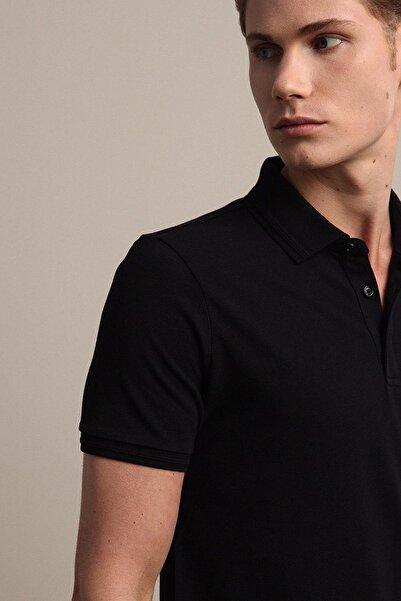 Kip Erkek Siyah Düz Örme T - Shirt KP10120555