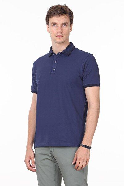 Ramsey Açık Lacivert Düz Örme T - Shirt RP10113808