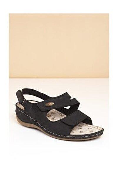 PC-2610 Siyah Kadın Sandalet