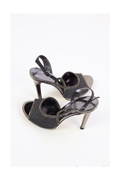 Pierre Cardin Kadın Topuklu Abiye Ayakkabı, Platin (pc-50132)