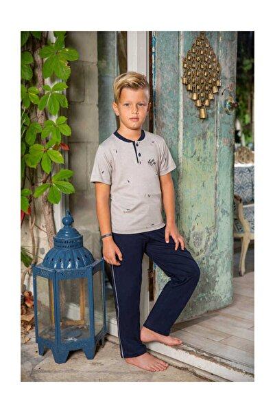 Berrak Erkek Çocuk Pijama Takımı - Bej 935