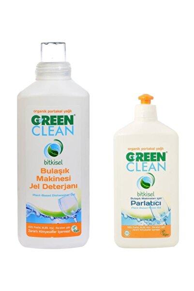 Green Clean Bitkisel Jel Bulaşık Makinesi Deterjanı + Organik Parlatıcı Set