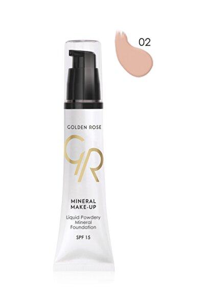 Golden Rose Mineral Fondöten - Liquid Powder Mineral Foundation Spf 15 No: 02 35 ml 8691190101824