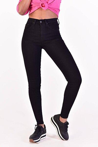 Kadın Siyah Yüksek Bel Pantolon Pn5402 Adx-0000022073