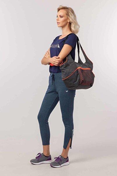 Lacivert Likralı Pamuklu Kadın T-Shirt EW-3006