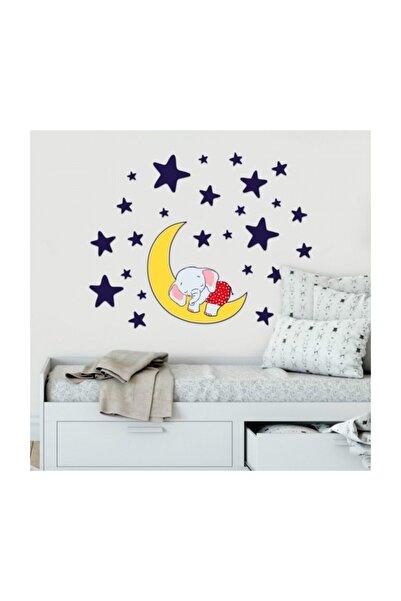 Artikel Uyuyan Fil Duvar Sticker, Çocuk Odası Sticker,duvar Dekorasyonu
