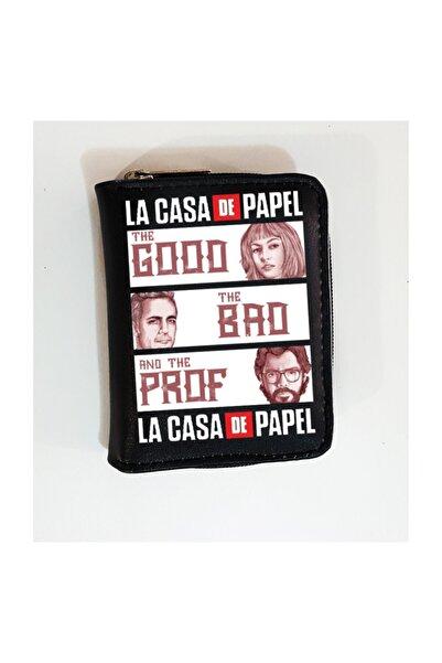 Köstebek Kadın Siyah La Casa De Papel Cüzdan