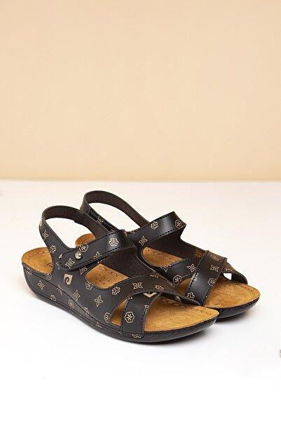 Pierre Cardin Pc-6172 Siyah-bej Kadın Sandalet