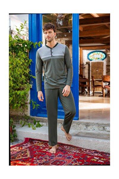 Berrak Erkek Haki Pijama Takımı 923