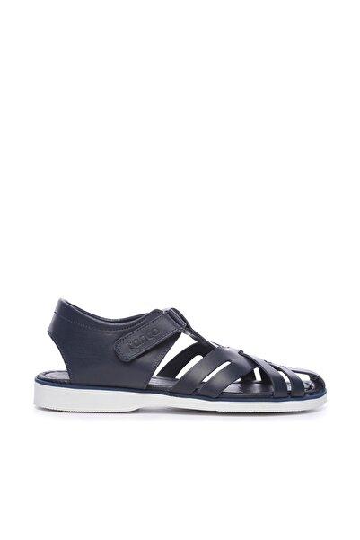 KEMAL TANCA Hakiki Deri Lacivert Erkek Sandalet Sandalet 676 E4504 ERK SNDLT
