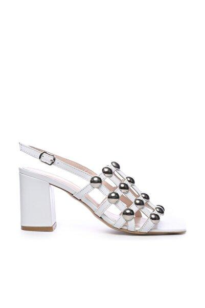 KEMAL TANCA Hakiki Deri Beyaz Kadın Ayakkabı 51 2136 BN AYK