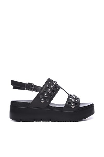 KEMAL TANCA Siyah Kadın Deri Sandalet Sandalet 169 52782 BN SNDLT