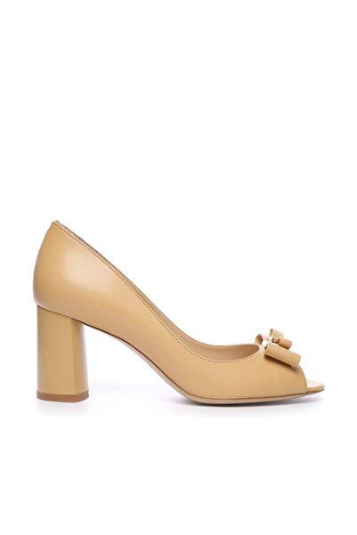 KEMAL TANCA Hakiki Deri Yeşil Kadın Stiletto Ayakkabı 613 23506 BN AYK