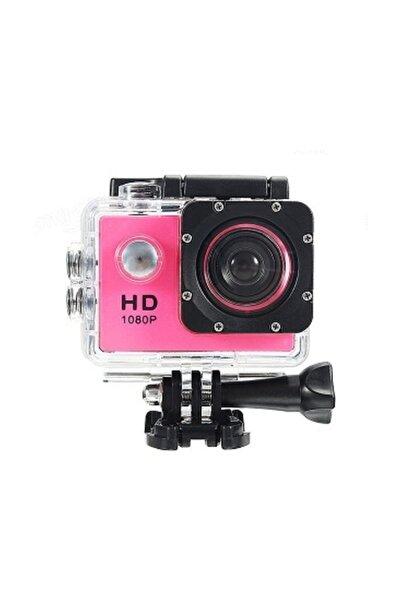 İnter Hd 1080p Aksiyon Kamerası Suya Dayanıklı Digital Ekranlı Pembe