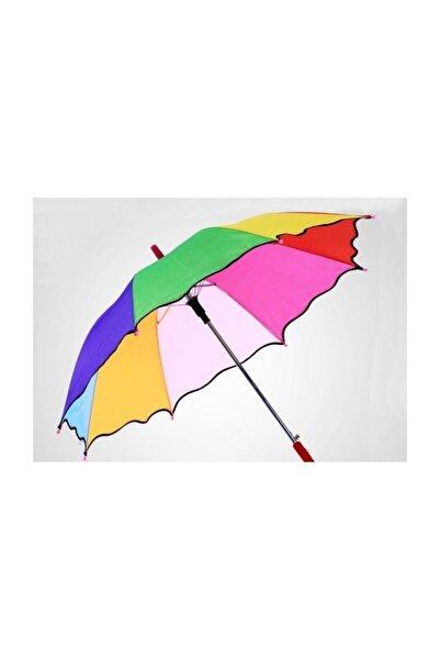 hediesshop Baston Gökkuşağı Renk Çocuk Şemsiyesi, Dekor Şemsiyesi Küçük