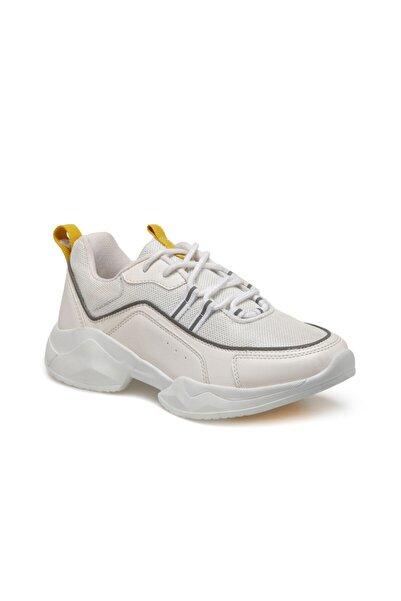ART BELLA Cs20002 Beyaz Kadın Kalın Taban Sneaker Spor Ayakkabı