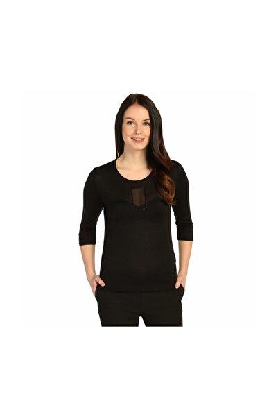 Solo Kadın Şifon Detaylı Triko Bluz